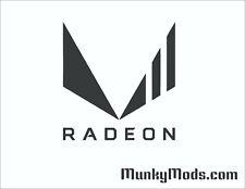 AMD Radeon Vega 2 Logo Computer Case Window Applique Vinyl Decal (Color Choices)