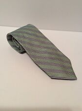Brooks Brothers Neck Tie * Blue And Green Stripes * Classy Dress Design