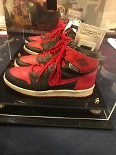 1985 Original Nike Air Jordan 1 Black &  Red Size 12 Game Issued Bulls Rare Find