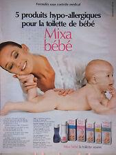 PUBLICITÉ DE PRESSE 1970 - MIXA BÉBÉ 5 PRODUITS HYPO-ALLERGIQUES - ADVERTISING