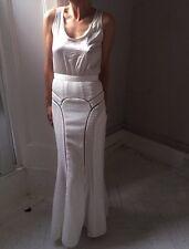 SELF-PORTRAIT STRIKING LONG WHITE DRESS UK6-8 NEW/TAGS