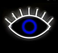 Oliver Gal The Looking eye LED neon Light Contemporary Wall art chic third eye