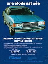 PUBLICITE ADVERTISING 025  1980  MAZDA 929  la 2l