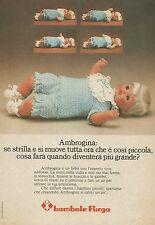 X9713 Bambole FURGA - Ambrogina  - Pubblicità 1975 - Advertising