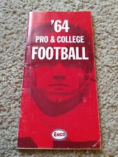 1964 ENCO Pro & College Football Schedule Program Promo Flyer brochure