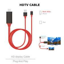 HDMI AV Adapter Video Cable Cord for Apple iPad iPhone X 8 7 6 Plus 5s 6S to TV