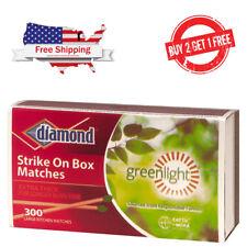 [BUY 2 GET 1 FREE]300 ct DIAMOND STRIKE ON BOX WOODEN KITCHEN MATCHES Greenlight