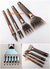 5mm Leather Craft Stitch Diamond Lacing Chisel Pricking Iron Punch Tool Kit Set