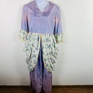 Vintage Reenactment Womens Dress Theater One Size Purple Prairie Victorian  KK5