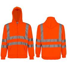 Pullover Warnschutzpullover Pulli Warnschutz Sweatshirt Orange Kaputze (MERK-P)
