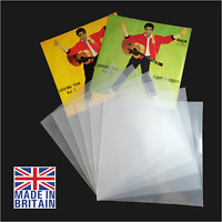"""100 7"""" Inch 450g Plastic Polythene Record Sleeves - 45RPM Outer Vinyl Covers"""
