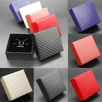 Ring Necklace Earring Bracelet Jewelry Box Wedding Gift Paper Bag Display Square