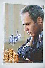 Garri kasparov signed 20x30cm foto autógrafo Autograph en persona garry kasparov