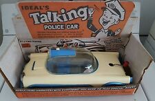 IDEAL TALKING POLICE CAR TOY STORE DISPLAY BOX vintage