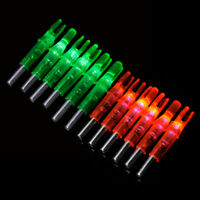 12-Pack Archery LED Lighted Nock Tail 6.2mm For Compound Bow Hunting Arrow Nocks