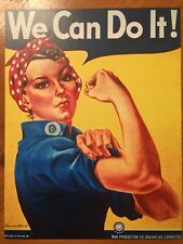 Tin Sign Vintage Rosie The Riveter