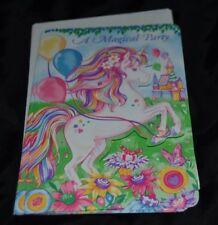 8 Vintage Paper Party Invitations MYSTICAL UNICORN by Amscan Die Cut w/Envelopes