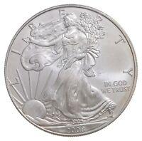 Better Date 2008 American Silver Eagle 1 Troy Oz .999 Fine Silver BU Unc