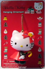 NEW- HELLO KITTY CHRISTMAS ORNAMENT Red  w/candy cane Plastic *FREE SHIPPING HTF