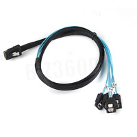 Mini 12Gbps SAS SFF-8087 36Pin to 4 SATA 7Pin HDD Hard Drive Splitter Cable 1M