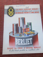CATALOGUE - PUB - BERLIET  ( ref 48 )