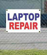 2x3 LAPTOP REPAIR Red White & Blue Banner Sign NEW Discount Size & Price