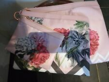 TED BAKER EMELCAN PINK FLORAL PALACE GARDEN 3 NYLON POUCH SET BAG NEW