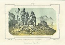1863 ANIMALE FOSSILE SAYARSKIE litografia Pagnoni Sayan Саяны Саянский хребет