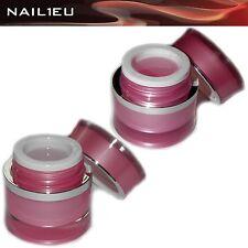 Fiberglas Aufbau-Gel Set klar+rosa NAIL1EU 30ml / UV Aufbaugel Gel Fiberglasgel