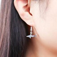 Fashion Women Alloy Shark Shape Drop Earrings Dangle Earrings Jewelry Hot