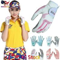 Women's Golf Gloves Left Right Hand Sport Golf Gloves Breathable Palm Protection