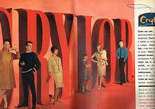 PUBLICITE ADVERTISING 114  1961  CRYLOR   manteaux pulls  couvertures (2p)