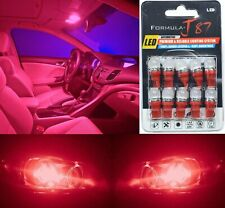 LED 5050 Light Red 194 Ten Bulbs License Plate Tag Replace OE SMD JDM Show Use