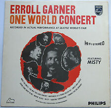 "Erroll Garner One World Concert 1963 LP 12"" 33rpm UK Philips vinyl record (ex)"