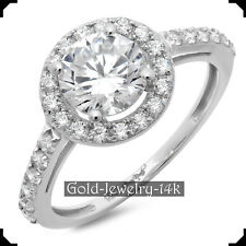 STACIE 14K White GOLD Ring 2.30Ct Round Diamond Lab-created Engagement for Woman