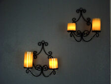 2 Wandhalter oder 1 Kronleuchter + 4 Led Timer Kerzen (Flambiance/Elambia)
