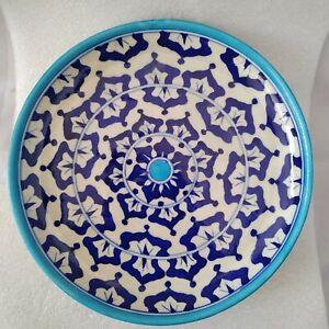 Jaipur Blue Pottery Ceramic Round Tableware Dinnerware Decorative Plate