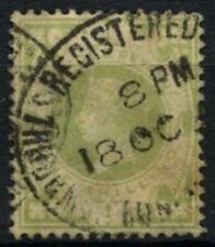 GB QV 1883-1884 SG#211, 1s Dull Green Used #D69032
