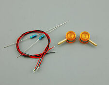 Truck Tamiya 1:14 Spiegel Blinker Seitenblinker Lolipops orange + LED