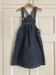 Petit Bateau Girls Denim Dress Age 8 Years