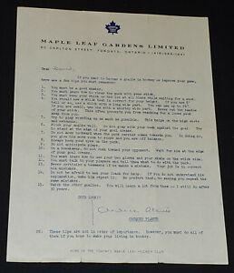 1970-1973 JACQUES PLANTE TORONTO MAPLE LEAFS HOCKEY PLAYER AUTOGRAPH - ORIGINAL