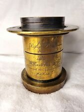Vintage French Rapid Rectilinear Clement Gilmer 10x12 Brass Lens.