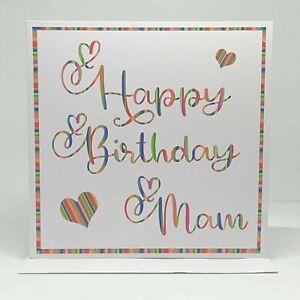 Happy Birthday Mam, Mam Birthday Card, Greeting Card, Hand made Birthday Card