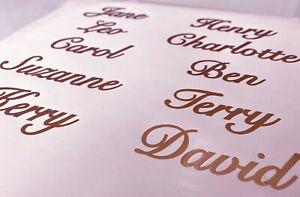 10 x Personalised Name Stickers Vinyl Decal Wine Glass Hen Wedding DIY