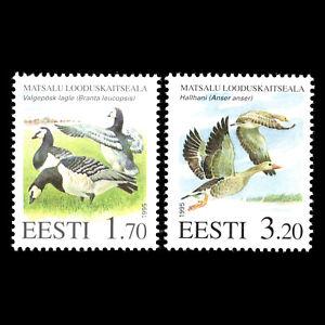 Estonia 1995 - Birds - Matsala Nature Reserve - Sc 283/4 MNH