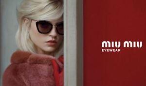 Genuine MIU MIU Sunglasses replacement Lenses.