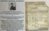 MEXICAN AMERICAN VOLTIGEURS HERO/CIVIL WAR GENERAL COLONEL LETTER SIGNED 1863 !