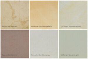Sandstein Musterstein z.B. für Mauerabdeckung Pfeilerabdeckung Treppen