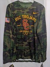 NWT Nike USC Trojans 2019 Veterans Day Legend Camo Mens Long Sleeve Shirt Sz M