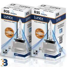 2 x D3S Genuine LUNEX XENON BULB PK32d-5 Original 35W 6000K Ultra Blue + 80%